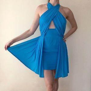 Asos Light Blue Cocktail Mini Dress